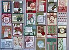 24 Christmas Holiday Winter greeting cards envelopes Stampin Up plus more
