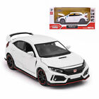 Honda Civic Type R 1 32 Model Car Diecast Toy Vehicle Kids Gift Collection White