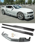 ZL1 Style Side Skirts  Front Lip For 10 13 Camaro SS ABS Plastic Rocker Panel