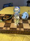 4 GLASS PAPERWEIGHT LOT
