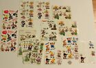 Huge lot of vintage Suzys Zoo sticker strips and sheets birthday sport baby 60+