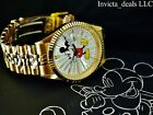 Invicta Mens Disney 43mm Mickey Mouse Limited Edition 18K Gold Plated SS Watch