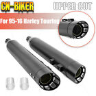 For 1995 16 Harley Bagger Touring Road King Glide 4 Slip On Mufflers Exhaust