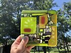 Fused Glass Tile Abstract Direct from Artist