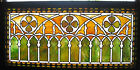 VICTORIAN STAINED GLASS WINDOW ca 1880s