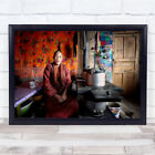 In Retreat The Young Lama Portrait Tibet Man Red Robes Wall Art Print