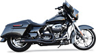 Bassani Road Rage 2 into 1 Black Motorcycle Exhaust 07 16 Harley Touring FLHX