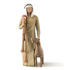 Willow Tree Zampognaro Shepherd with Bagpipe Sculpted Hand Painted Nativity