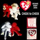 TY BEANIE BABY CHEEK TO CHEEK  2 MONKY'S LOCKED ARM & ARM FROM 2006 VERY CLEAN