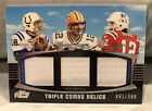2011 Topps Prime Manning Rodgers Tom Brady Triple Combo Relic Jersey #D 388