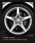 Set Of Four 2016 Mercedes Benz SL400 Wheels SL550 with No Tires With Mb Caps