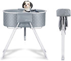 Furesh Elevated Folding Dog Bath Tub and Wash Station for Bathing Shower and