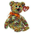 Groovey (Flower) Bear 2006- TY Beanie Baby Retired Rare Mint Condition Tags MWMT