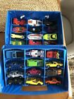 VINTAGE MIXED LOT MATCHBOXLESNEYHOT WHEELS TOY VEHICLES W CASE MILITARY BIKE