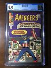 Avengers #16 (1965) - Captain America! Hawkeye! - CGC 8.0! - Key! White Pages!