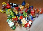 STUNNING VTG MURANO ART Glass 21 Wrapped CANDY PIECES Interesting Colors Shapes