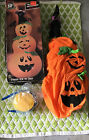 Halloween Inflatable Fiber Optic 30 Pumpkins And Black Cat In Witches Hat Cute