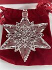 WATERFORD CRYSTAL 2004 ANNUAL SNOW STAR CHRISTMAS ORNAMENT W Jeweled Hook