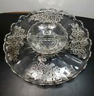 Silver City Sterling Overlay Platter and Divided Relish Dish