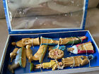 Nativity Hand Decorated British Hong Kong Complete ORIG 12pc