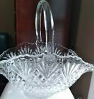 LE Smith Pineapple Pattern Glass Basket With Handle 14Lx75Wx12T mint