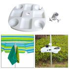 Beach umbrella tray snack cup holder for patio swimming pool white