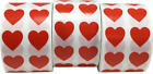 Red Heart Stickers for Valentines Day Crafting Scrapbooking 1 2 Inch 3000 Tota