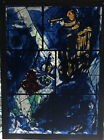 Vintage Marc Chagall Stained Glass Window Panel Art Institute Of Chicago Music