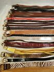 LOT OF 21 LEATHER WESTERN BRAIDED FASHION BELTS VINTAGE  CONTEMPORARY