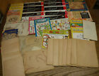 Large vintage mixed lot Hot Iron On Embroidery Transfer Repeat Motifs Patterns