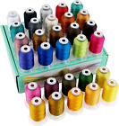 New brothread 30 Colors Polyester Embroidery Machine Thread Kit 500M 550Y Each