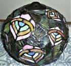 Small TIFFANY STYLE STAINED GLASS Lamp Shade Peacock Feathers Fish Bowl Globe