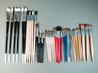 45 Vintage lot Artist Paint Brushes NOS unused Watercolor Oil Acrylic