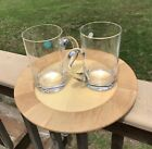 Tiffany  Co Crystal Barware Beer Mugs Steins Classic Signed Hand Blown Set 2
