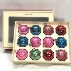 Vintage Glass Christmas Ornaments Pink Blue Red Green Sears 1 Shiny Brite Retro