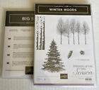 Stampin Up Retired Stamp Set WINTER WOODS  IN THE WOODS Dies ChristmasTrees