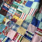 Vintage Postage Stamp Quilt Top hand stitched BEAUTY 1 squares 585 By 76 Inch