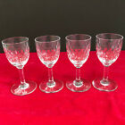 VINTAGE SIGNED BACCARAT 4 CORDIAL PARIS CUT PATTERN 3 3 8 TALL CORDIAL GLASSES
