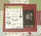 Stampin Up OWL OCCASIONS  BUILDER PUNCH w DSP Owl Stamp Theme Christmas Lot