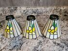 3 Pendant Lamp Light Fixtures Tiffany Style Stained Glass Shades Replacement