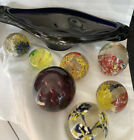 Job Lot Vintage Art Glass Paperweight Murano  Bowl Spare Craft Upcycle AS IS