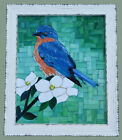 Mosaic Wall Art Eastern Bluebird Hand Crafted Stained Glass