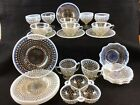 MOONSTONE Opalescent Hobnail Set 23 Pieces Anchor Hocking Service for 4 1940s