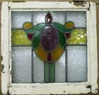 OLD ENGLISH LEADED STAINED GLASS WINDOW Lovely Floral Design 20 x 1975
