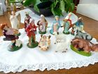 Vintage Italian Nativity Set 13 Figures Hand Painted Made in Italy
