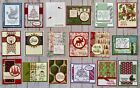 18 Christmas Holiday Winter greeting cards envelopes Stampin Up plus more