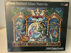 Stained Glass Nativity Jigsaw Puzzle 1000 Piece Vermont Christmas Company NEW