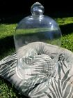 HUGE 16 TALL VINTAGE THICK GLASS BELL SHAPE CLOCHE DOME COVER PERFECT CONDITION
