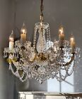 Superb French style Vintage 6 light all Glass  Lead Crystal chandelier 2 of 2