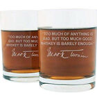 Johnny Carson Famous Quote Italian Crystal Whiskey Glass